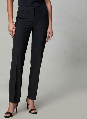 Pantalon Lauren Petites à jambe droite, Noir, hi-res,