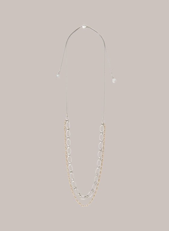 Adjustable Multi-Chain Necklace, Yellow