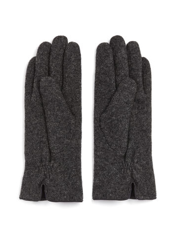 Wool Gloves with Bow, Grey, hi-res
