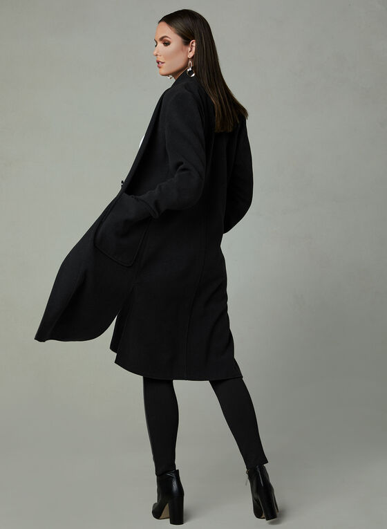 Faux Wool Transition Coat, Black