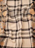 Foulard à carreaux et imprimé floral, Beige