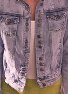 Charlie B - Distressed Denim Jacket, Blue