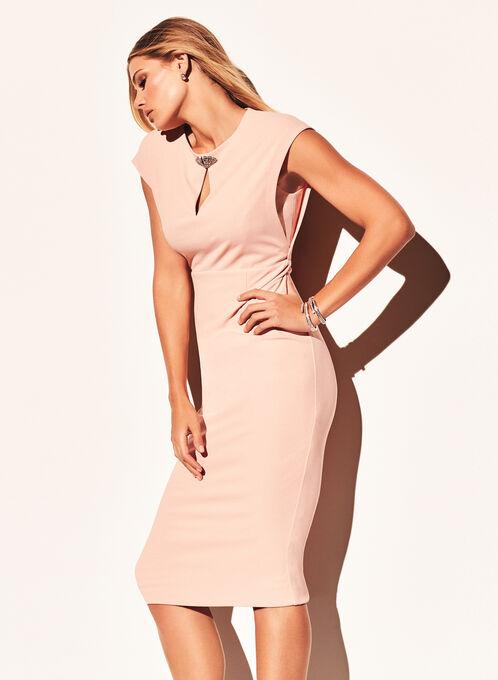 Maggy London - Jewel Trim Dress, Pink, hi-res