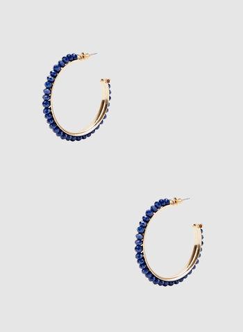 Créoles à pierres noires, Bleu, hi-res