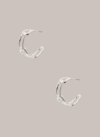 Anneaux ovales à maillons  , Argent,  bijoux, boucles d'oreilles, anneaux, maillons,