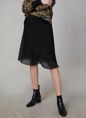 Chiffon Pleated Skirt, Black, hi-res,  Canada, skirt, chiffon, pleated, pull on, fall 2019, winter 2019