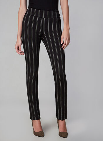 Madison Stripe Pants, Black, hi-res,  pants, wide legs, pull on waist, stripe, fall 2019, winter 2019