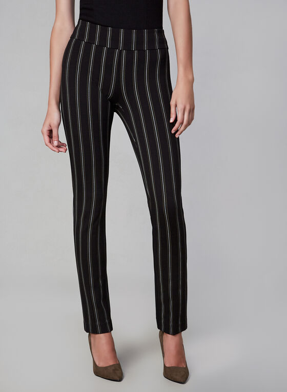 Madison Stripe Pants, Black