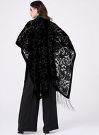 Burnout Velvet Ruana Wrap, Black, hi-res