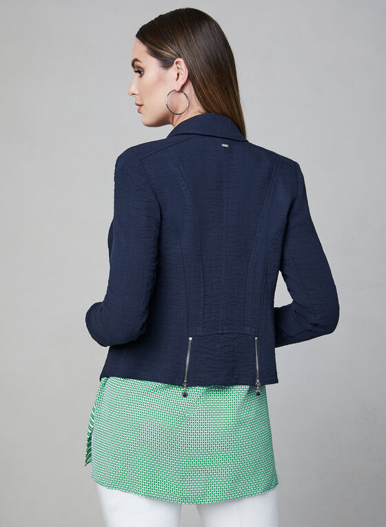 Vex - Zipper Trim Jacket, Blue