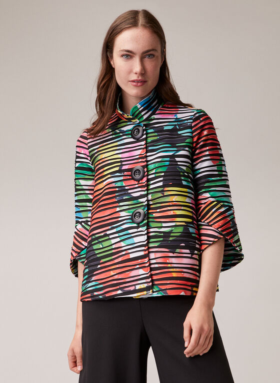 Joseph Ribkoff - Abstract Print Blazer, Multi