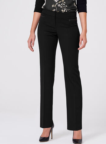 Lauren Tailored Fit Straight Leg Pants, , hi-res