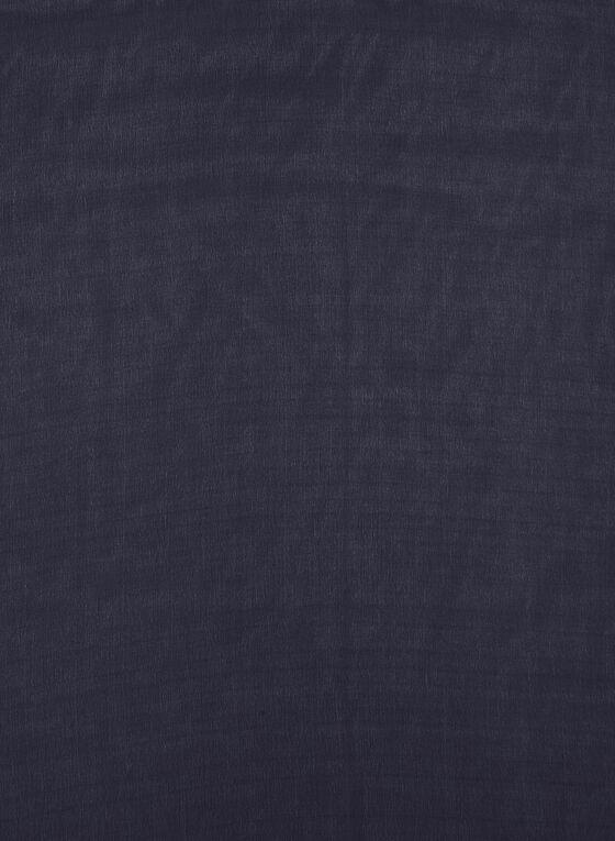 Solid Colour Charmeuse Wrap, Blue, hi-res