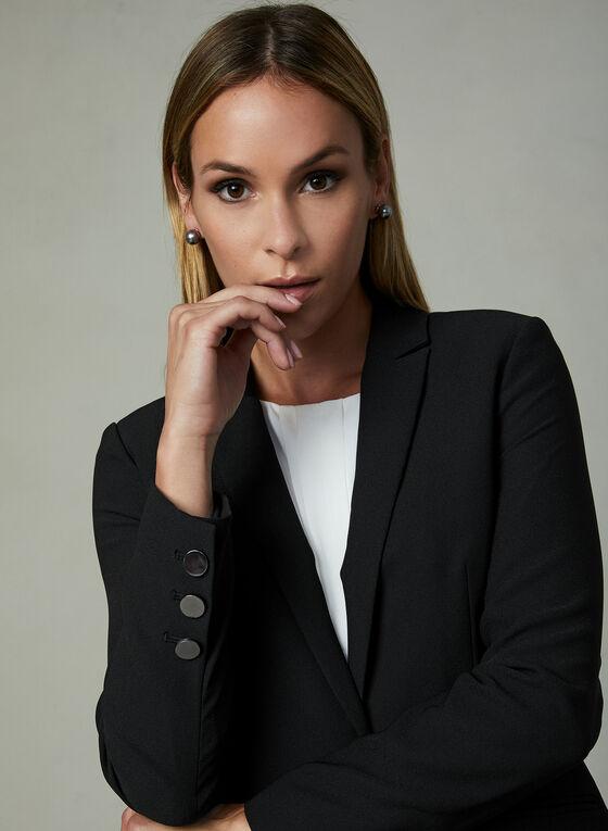 One Button Blazer, Black, hi-res