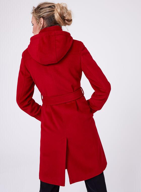 Ellen Tracy - Manteau en laine avec ceinture, Rouge, hi-res