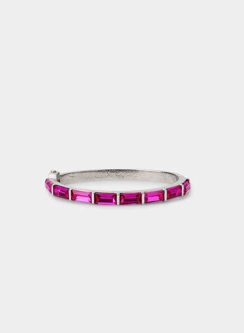 Hinge Bangle Bracelets, Pink,  bangle bracelet, large horizontal baguettes, fall 2019
