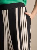 Stripe Print Palazzo Pants, Black