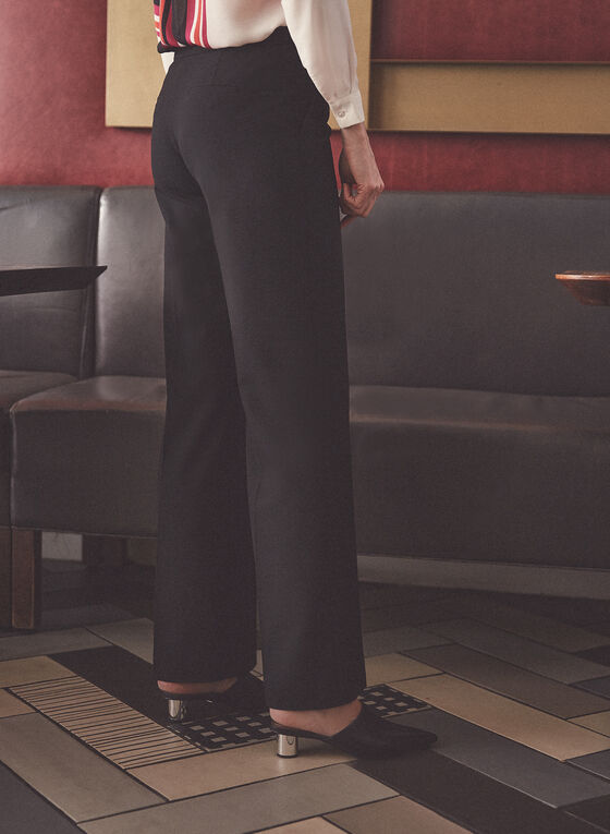 Pantalon Soho à détails boutons, Noir