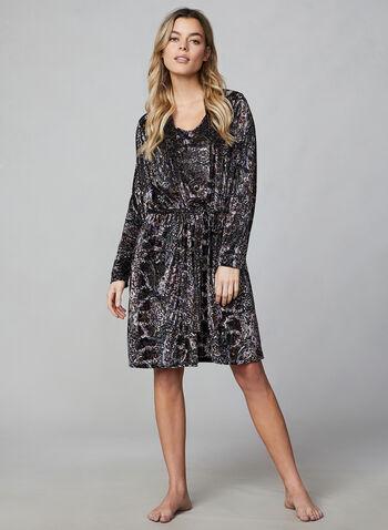 Hamilton - Nightshirt & Robe, Multi,  Hamilton, Canada, sleepwear, pyjama, paisley, velour, burnout, bathrobe, nightshirt, fall 2019, winter 2019