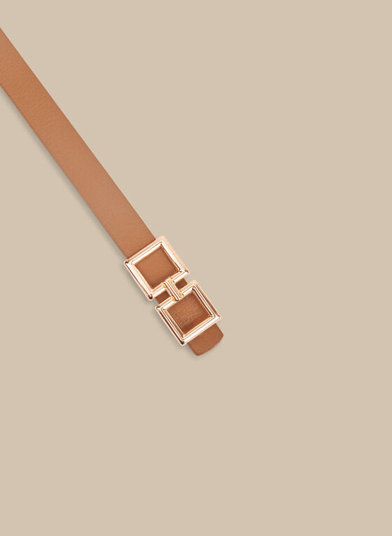 Thin Leather Belt, Brown