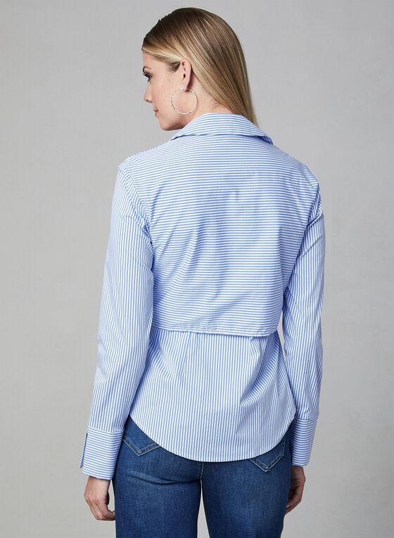 Frank Lyman - Stripe Print Shirt, Blue, hi-res