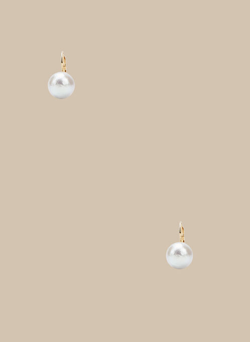 Pearl Earrings, Off White