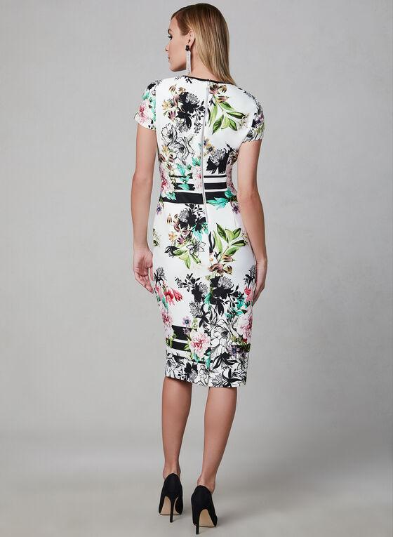 Floral Print Sheath Dress, White