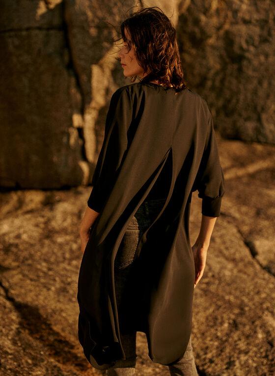 Joseph Ribkoff - Asymmetric V-Neck Tunic, Black