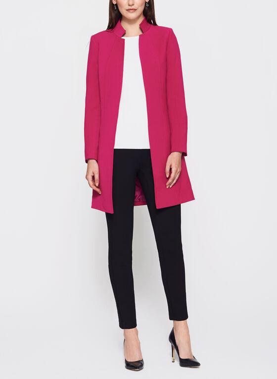 T Tahari - Inverted Notch Collar Jacket, Pink, hi-res