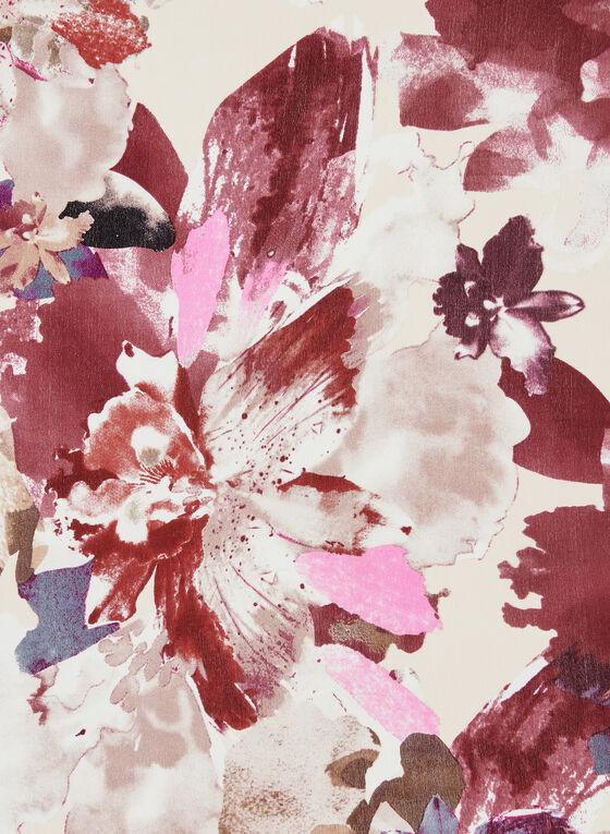 Floral Print Silk Scarf, Pink, hi-res