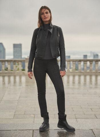 Pantalon Madison à motif de carreaux, Noir,  automne hiver 2020, pantalon, pull-on, taille élastique, à enfiler, motif, carreaux, carreauté
