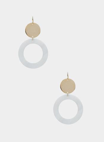 Boucles d'oreilles à disque et anneau, Or, hi-res