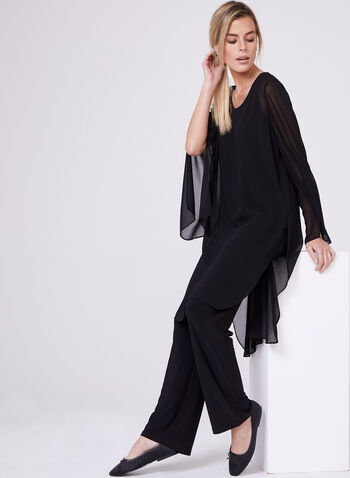 Compli K - Pull-On Wide Leg Pants , Black, hi-res