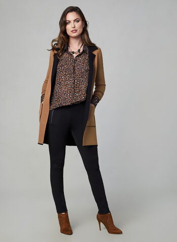 Leopard Print Blouse, Brown,  leopard print, blouse, top, long sleeves, print, fall 2019, winter 2019