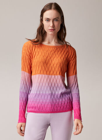 Pull multicouleurs effet dégradé, Multi,  sweater, knit, textured, multicolour, long sleeve, spring summer 2020