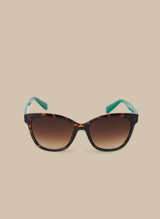 Plastic Tortoiseshell Sunglasses, Green