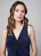 Taylor - Robe drapée sans manches, Bleu, hi-res