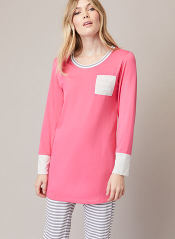 Ensemble pyjama à rayures, Orange,  automne hiver 2020, pyjama, ensemble