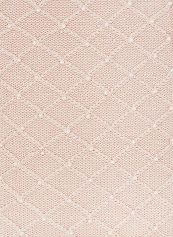 Karl Lagerfeld Paris – Crystal Detail Knit Scarf, Pink, hi-res