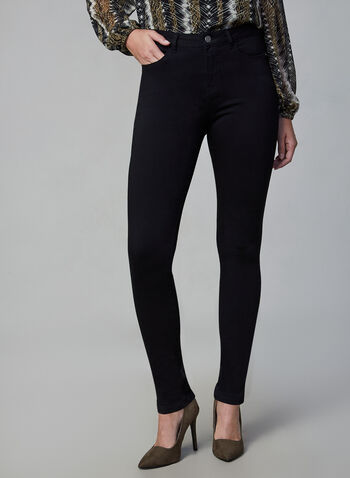 Jeans Superdoux à jambe étroite, Noir, hi-res,  jeans, superdoux, jambe étroite, poches, automne hiver 2019