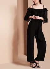 Off The Shoulder Jumpsuit, Black, hi-res