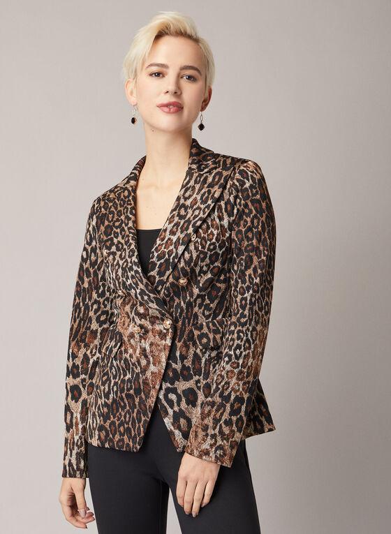 Joseph Ribkoff - Leopard Print Blazer, Black