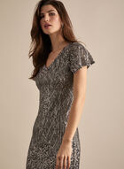 Alex Evenings - Sequin Cocktail Dress, Silver