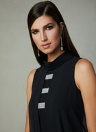Joseph Ribkoff - Sleeveless Chiffon Dress, Black, hi-res