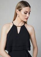 Kensie - Robe à encolure bijou et volants, Noir
