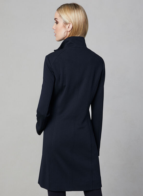 Nuage - Zipper Front Coat, Blue, hi-res