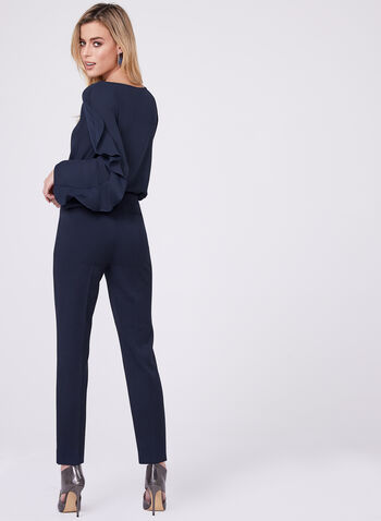 Amber Tailored Fit Slim Ankle Pants, Blue, hi-res