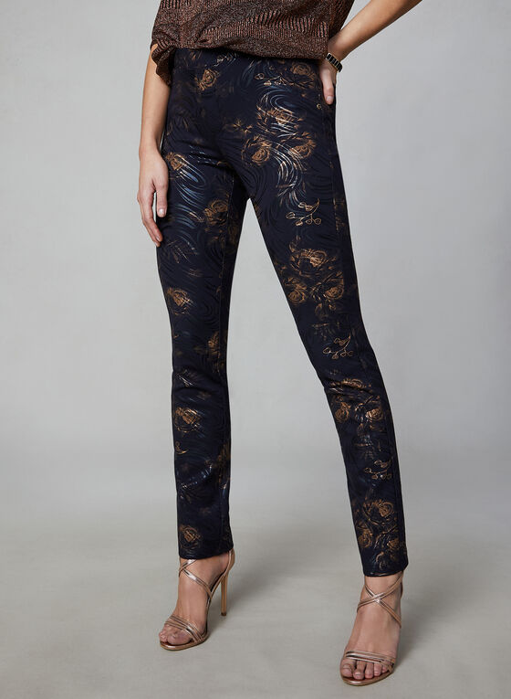 Insight - Floral Print Pants, Black