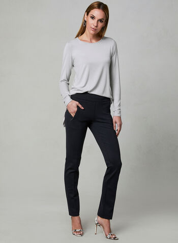 Madison Ponte de Roma Pants, Black, hi-res