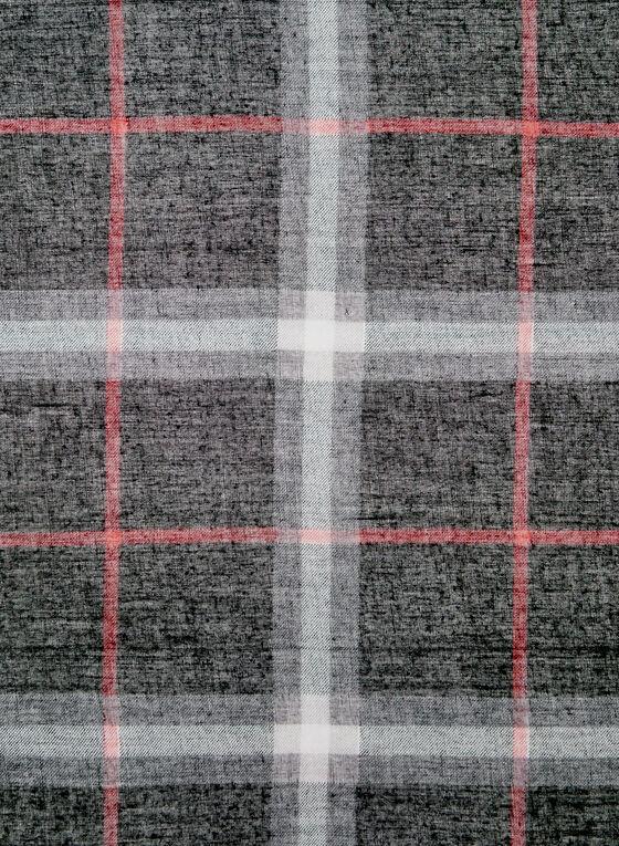Foulard léger à imprimé tartan, Noir, hi-res